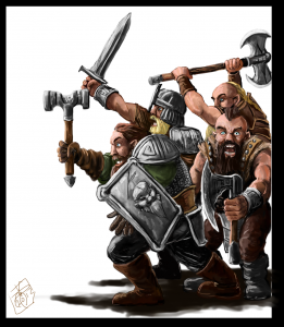 Cheering Dwarves (crowsrock @ deviantart.com)