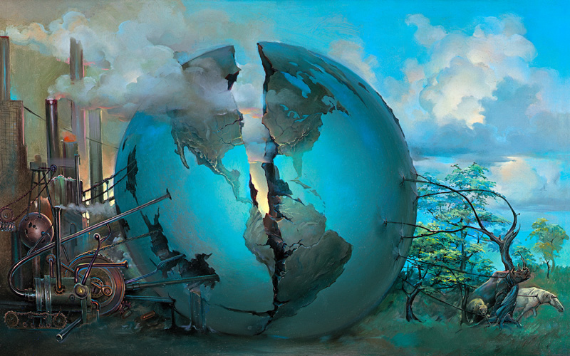 Split World by John Pitre